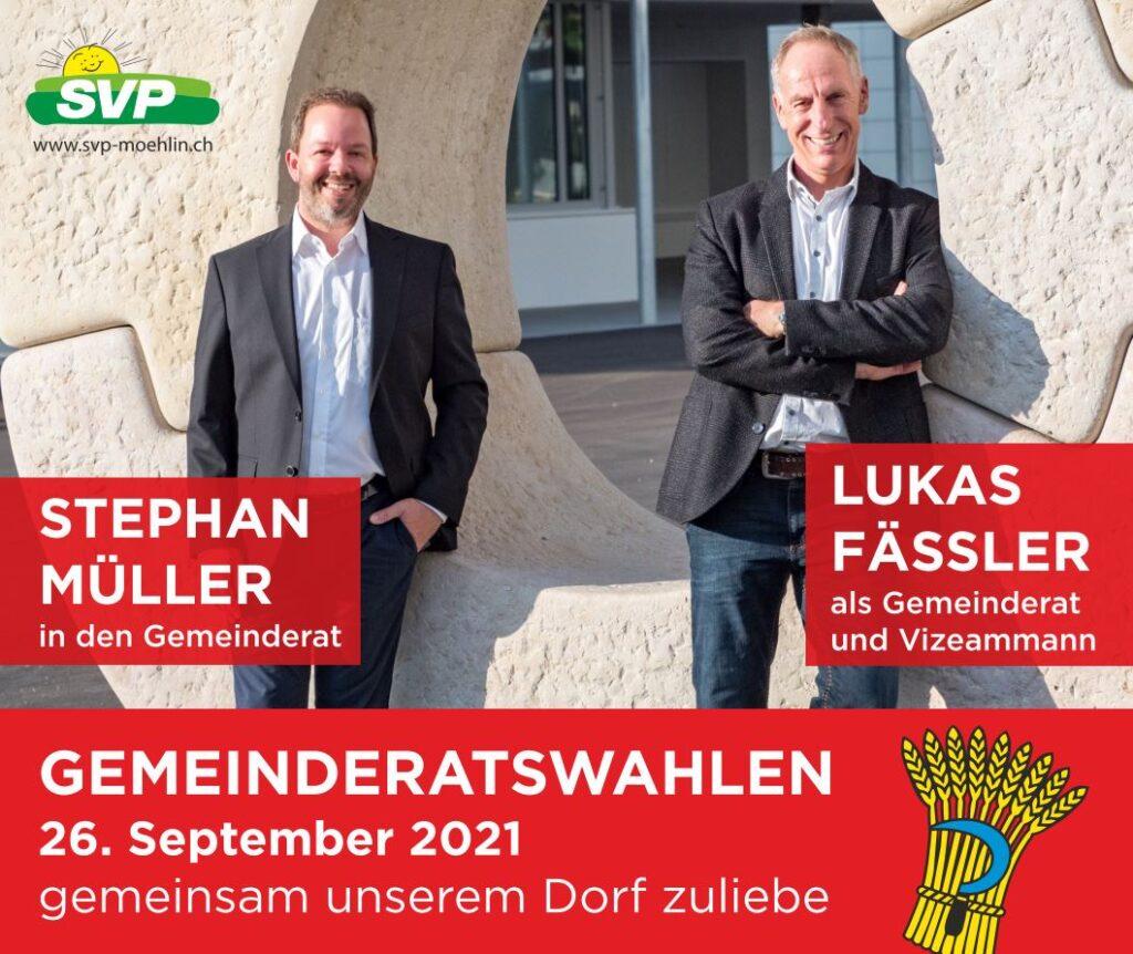 Gemeinderatswahlen 26.09.2021 SVP Möhlin